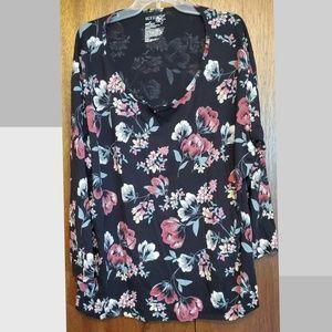 Black floral long sleeve